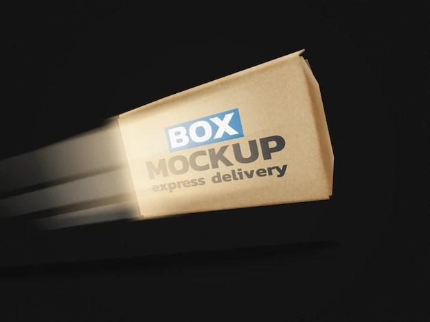 Download Online delivery box mockup | Premium PSD File
