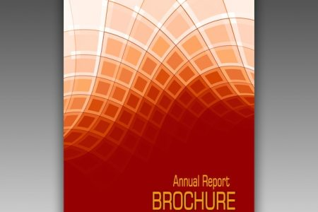 Orange brochure template PSD file   Free Download Orange brochure template Free Psd