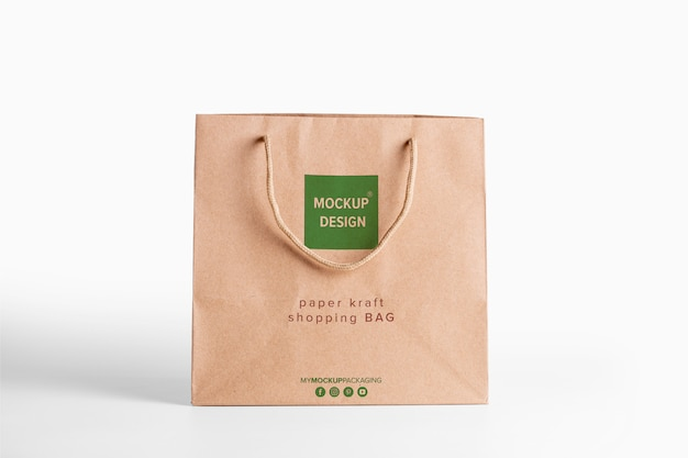 Download Paper bag brown mockup for merchandise. corporate ...