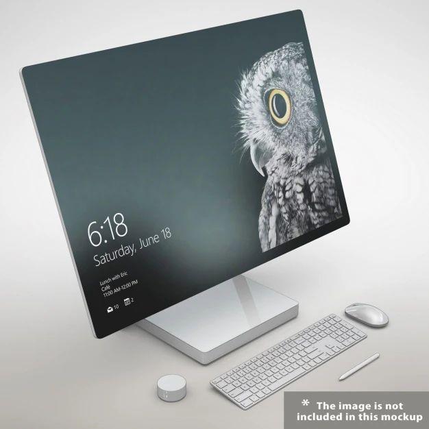 Realistic Monitor Presentation Psd File Free Download