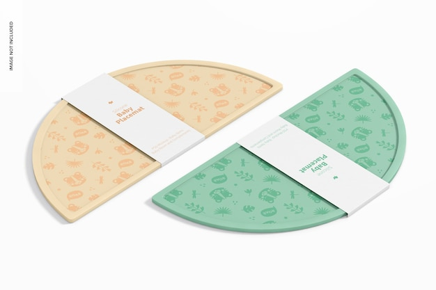 With this files can create personalized product with custom design. Premium Psd Silicone Baby Placemat Mockup