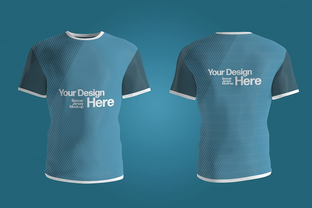 Download Soccer jersey front and back mock up isolated   Premium ...