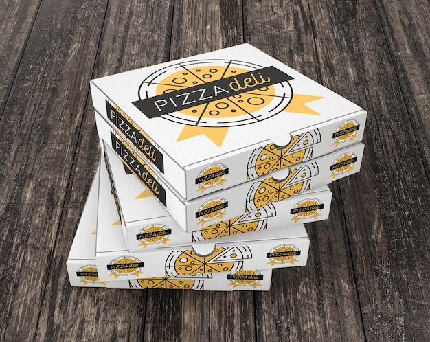 Download Stacked pizza box mockup PSD file | Free Download