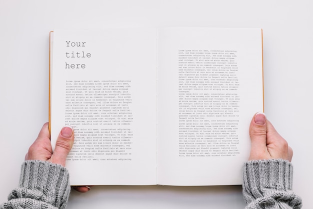 Free Psd Top View Open Book Mockup