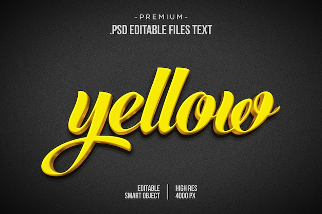 Download Photoshop Psd File 3d Wall Logo Mockup Psd Free Download Yellow Images