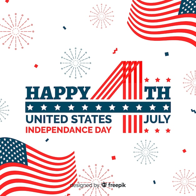 4th of july - Independence Day background Free Vector