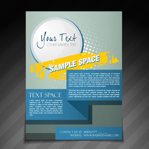 vector abstract poster template design