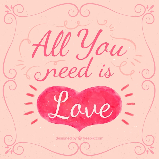 Download All you need is love quote   Free Vector