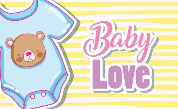 Download Baby love card vector illustration graphic design Vector ...
