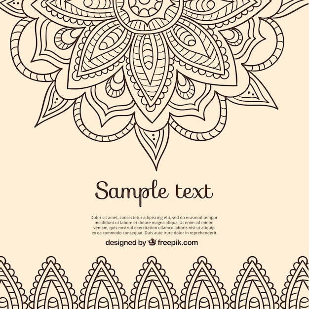 Background In Indian Design Free Vector