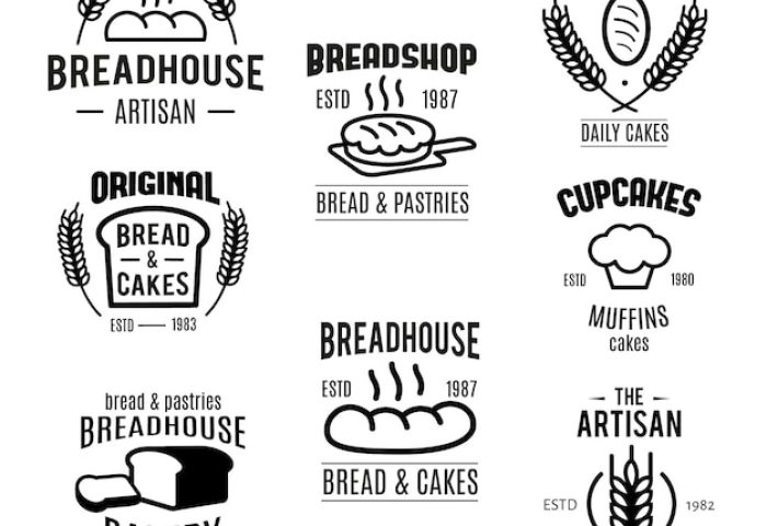 Bakery Badges Collection Vector Free Download