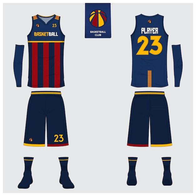 Download Basketball jersey template design Vector | Premium Download