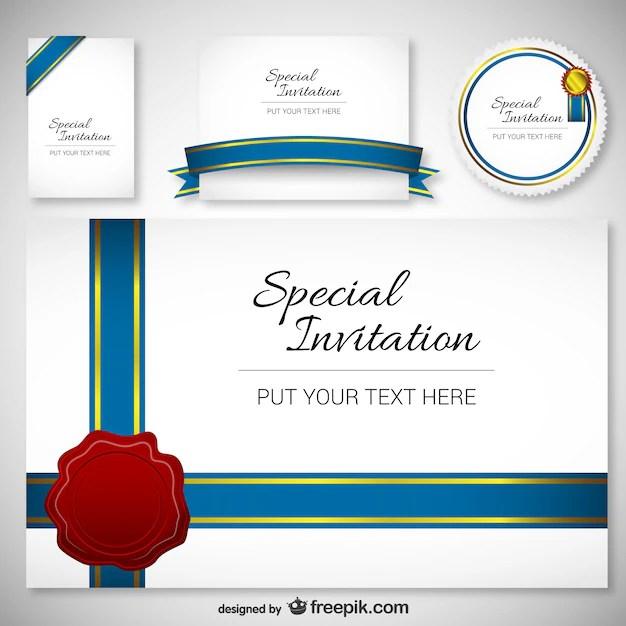 best design invitation card template
