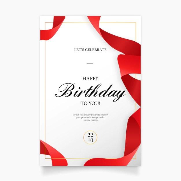 free vector birthday invitation card