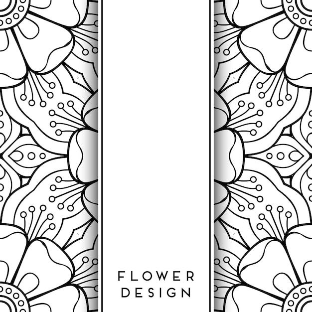Free Vector Black And White Floral Design