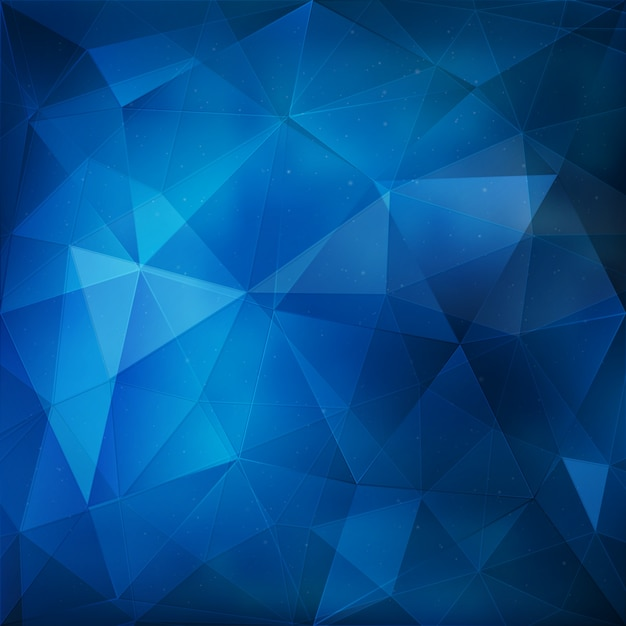 Blue geometric background Vector   Free Download Blue geometric background Free Vector