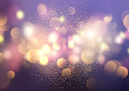 Bokeh lights and glitter background Free Vector