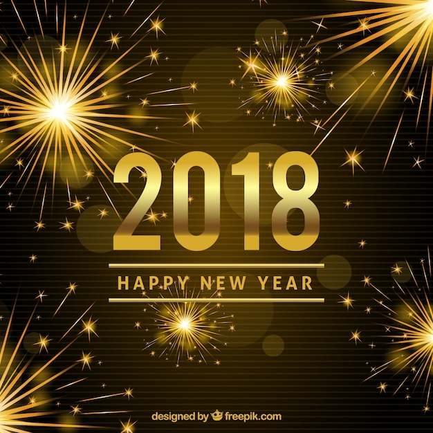 background new year 2018
