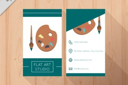Business card template  art studio Vector   Free Download Business card template  art studio Free Vector
