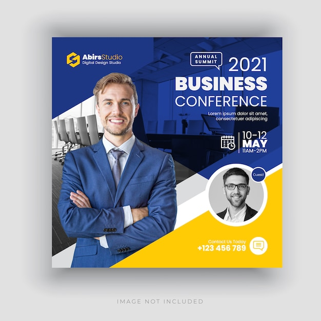 Text for banner or text banner is a setting commonly found on broadband router firmware. Premium Vector Business Conference Social Media Banner Or Square Flyer Template