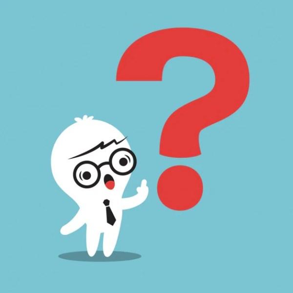 Cartoon of a businessman with a question mark Vector
