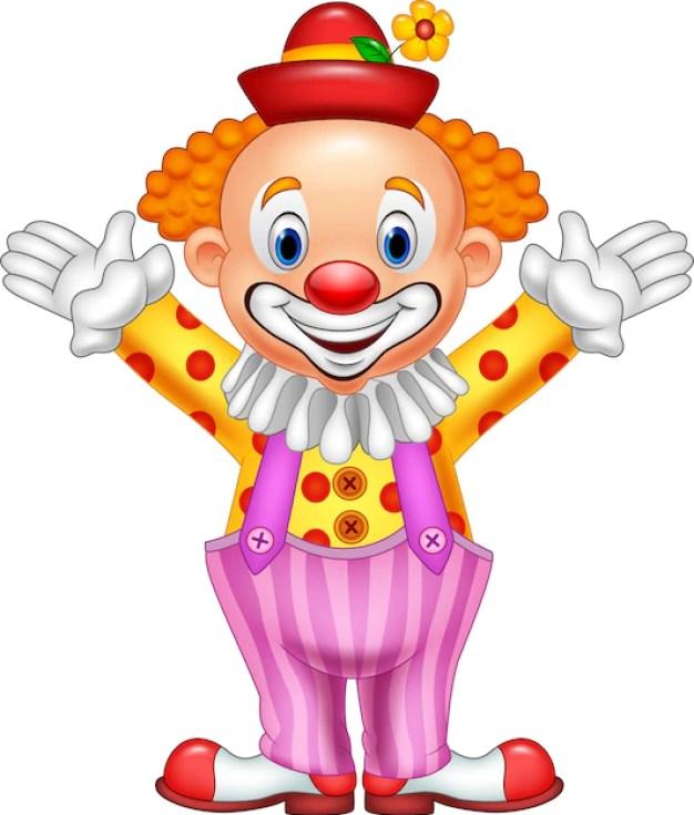 Premium Vector Cartoon Happy Clown