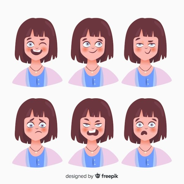 Character showing emotions Vector | Free Download