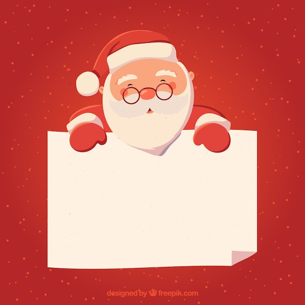 Christmas Character With Letter Background Vector Free