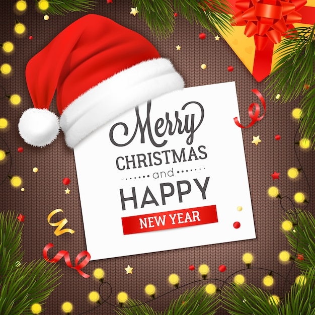 Free Vector | Christmas greeting card