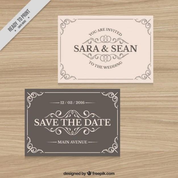 Fl Wedding Card Templates Free Vector