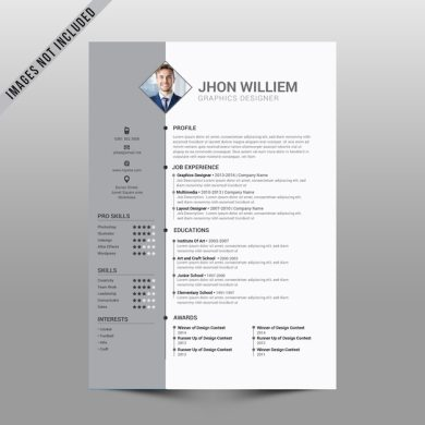 Clean Simple Resume Vector   Premium Download Clean Simple Resume Premium Vector