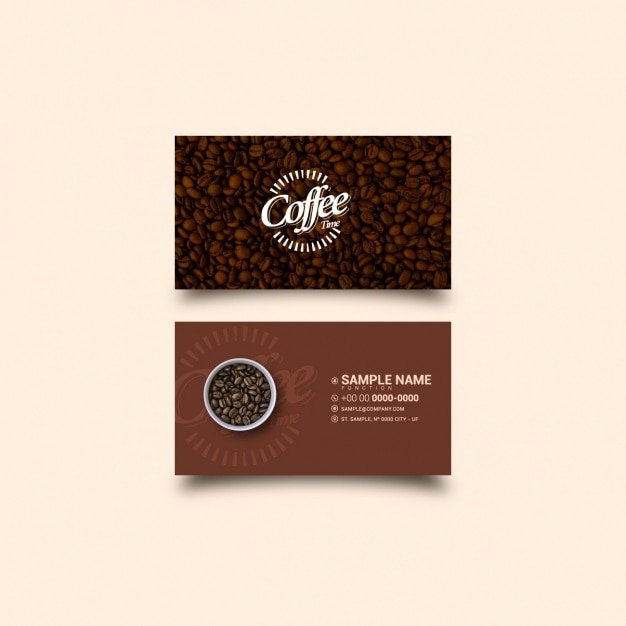 images for coffee business card template free