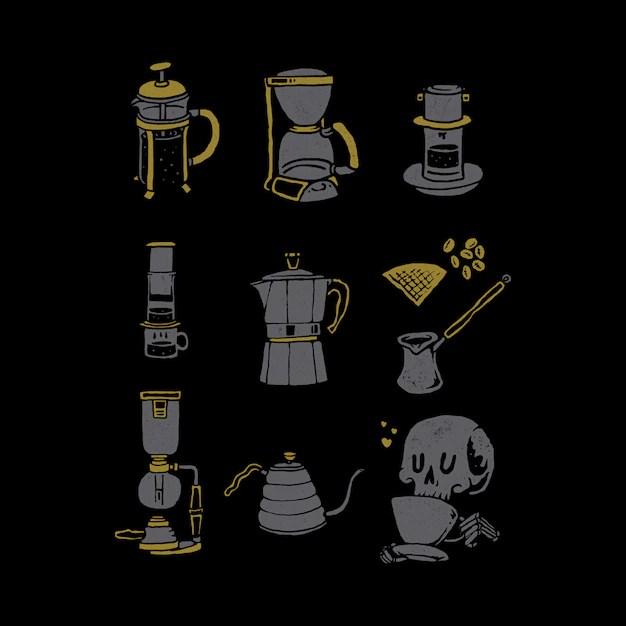 Download Coffee lover graphic illustration   Premium Vector