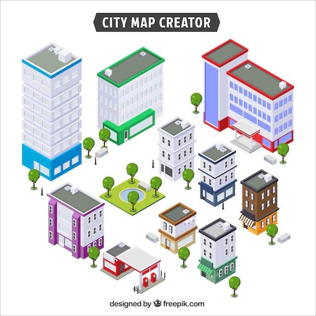 Cartoon map maker online free for Building maker online