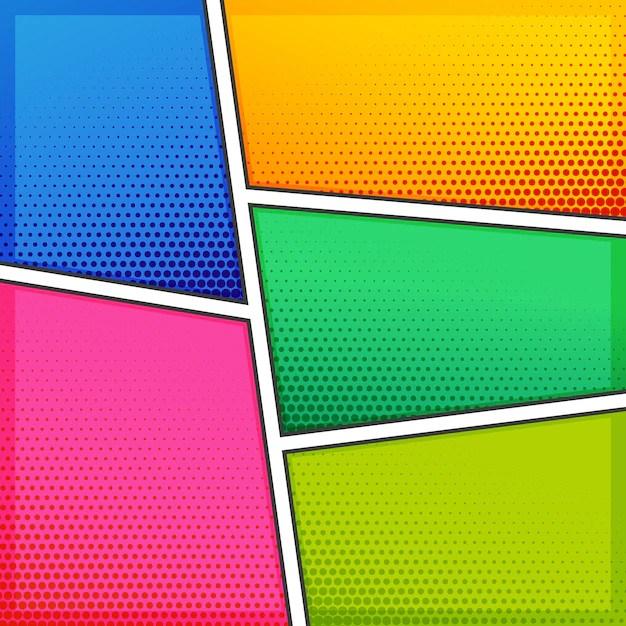 Colorful Comic Style Templates Vector Premium Download