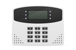 Control block home security system Premium Vector