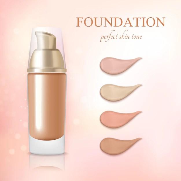 Cosmetic foundation concealer cream realistic Free Vector