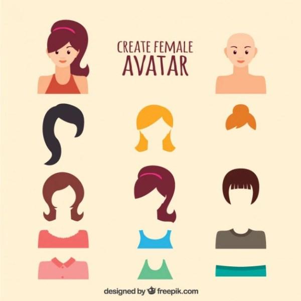 Create Female Avatar Vector Free Download