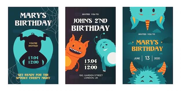 creative birthday invitation designs