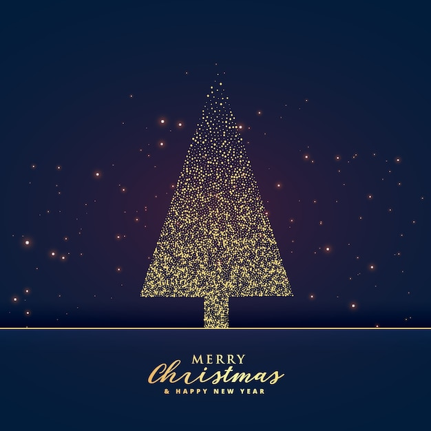 creative christmas tree design made with glitter background Free Vector