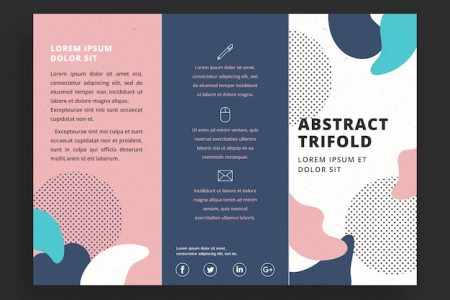 Creative colorful trifold business brochure template Vector   Free     Creative colorful trifold business brochure template Free Vector