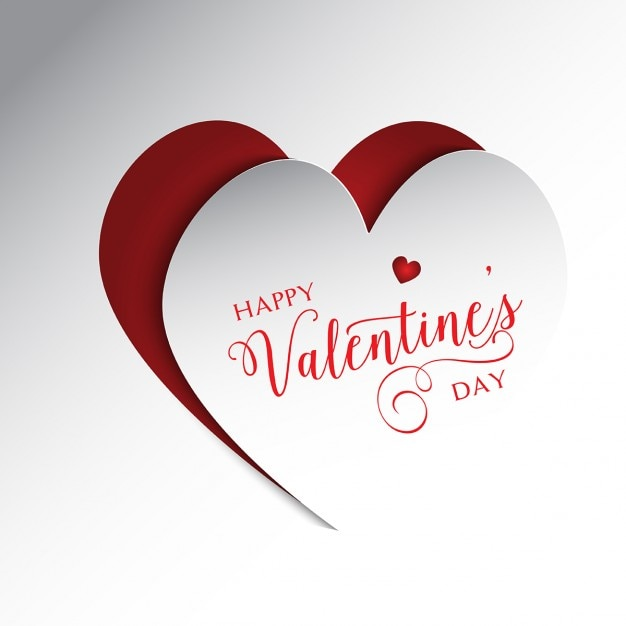 Cute Valentines Background In Colors White And Red Vector