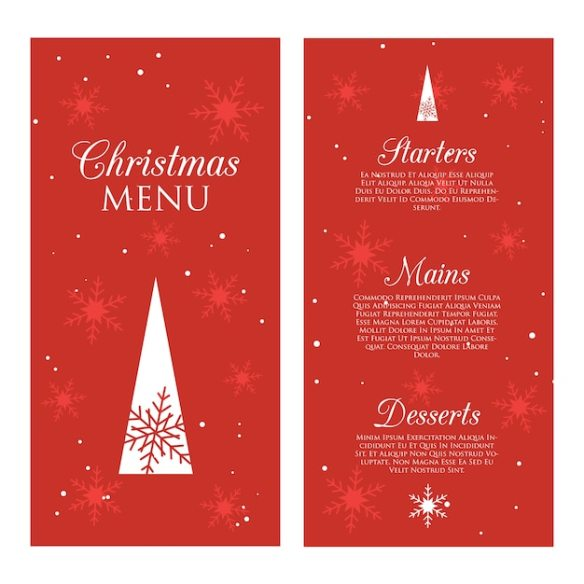 Decorative christmas menu Premium Vector