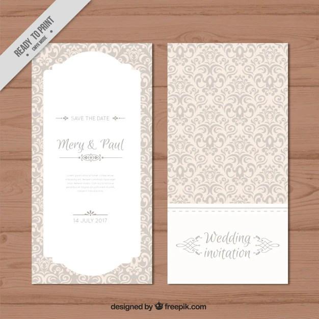 Decorative Elegant Wedding Invitation