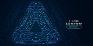 Digital technology circuit diagram futuristic banner Vector | Free Download