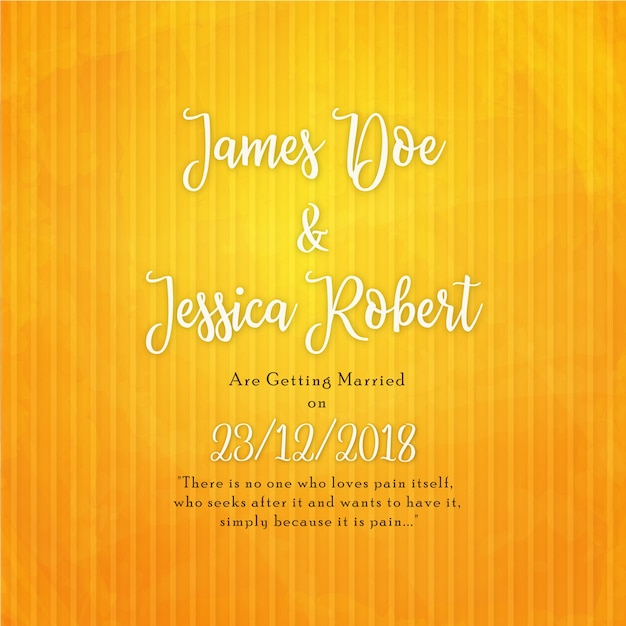 elegant wedding invitation card in