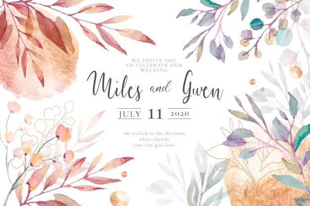 Elegant Wedding Invitation Template Ready To Print Vector