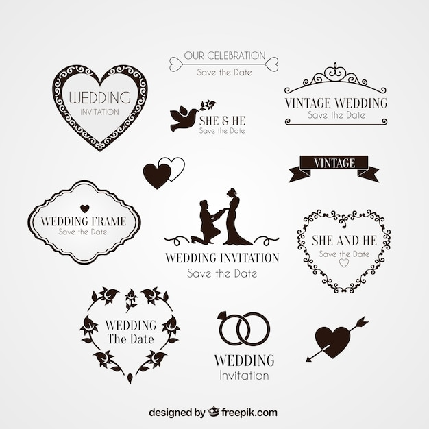 Elements For Wedding Invitation