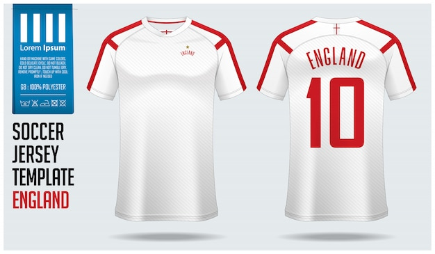 Download England soccer jersey mockup or football kit template ...