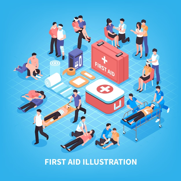 Free Vector First Aid Isometric